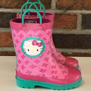 Sanrio Hello Kitty Kid Rain Boots Size 7/8